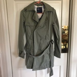 AE Green Trench Jacket